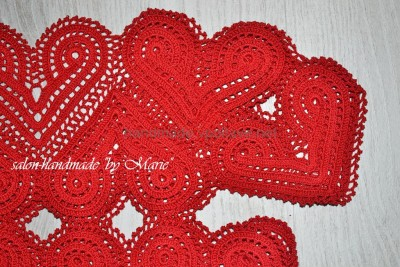 Red dress of heart motifs masterclass