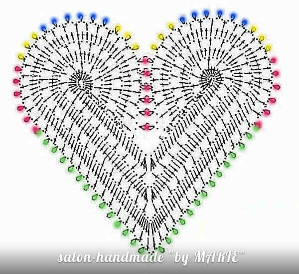 схема сердце крючком мотив
