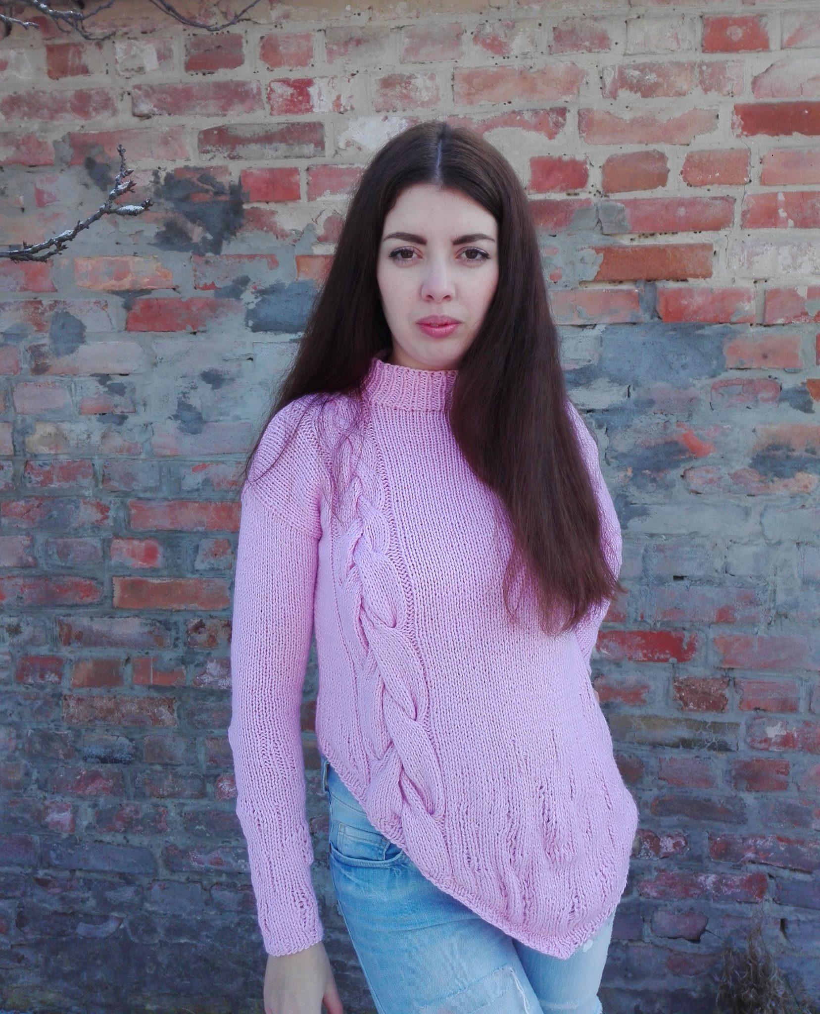в'язаний светр спицями