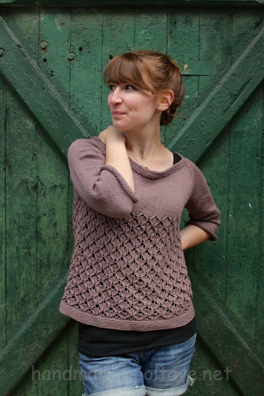 pattern rhombus knitting sweater