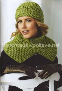 knitted set hat and scarf