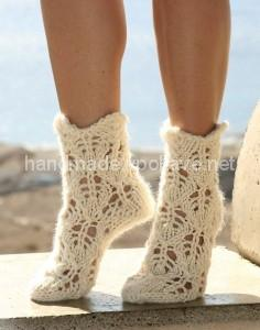 knitted openwork socks