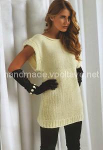 white knitted tunic