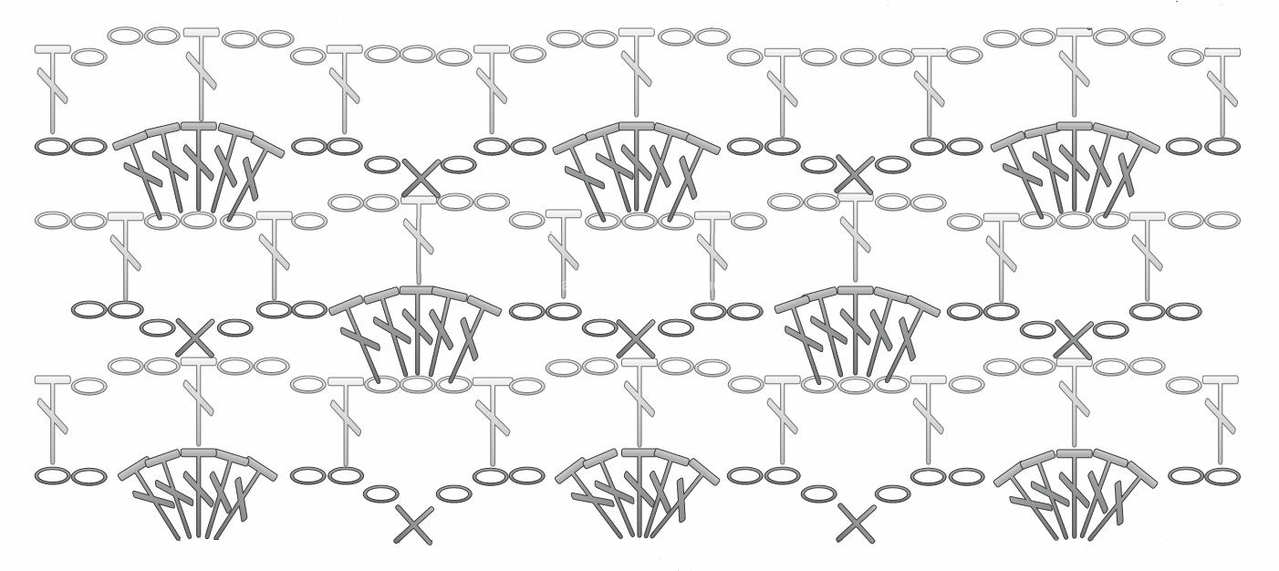 Схема вязаного платя