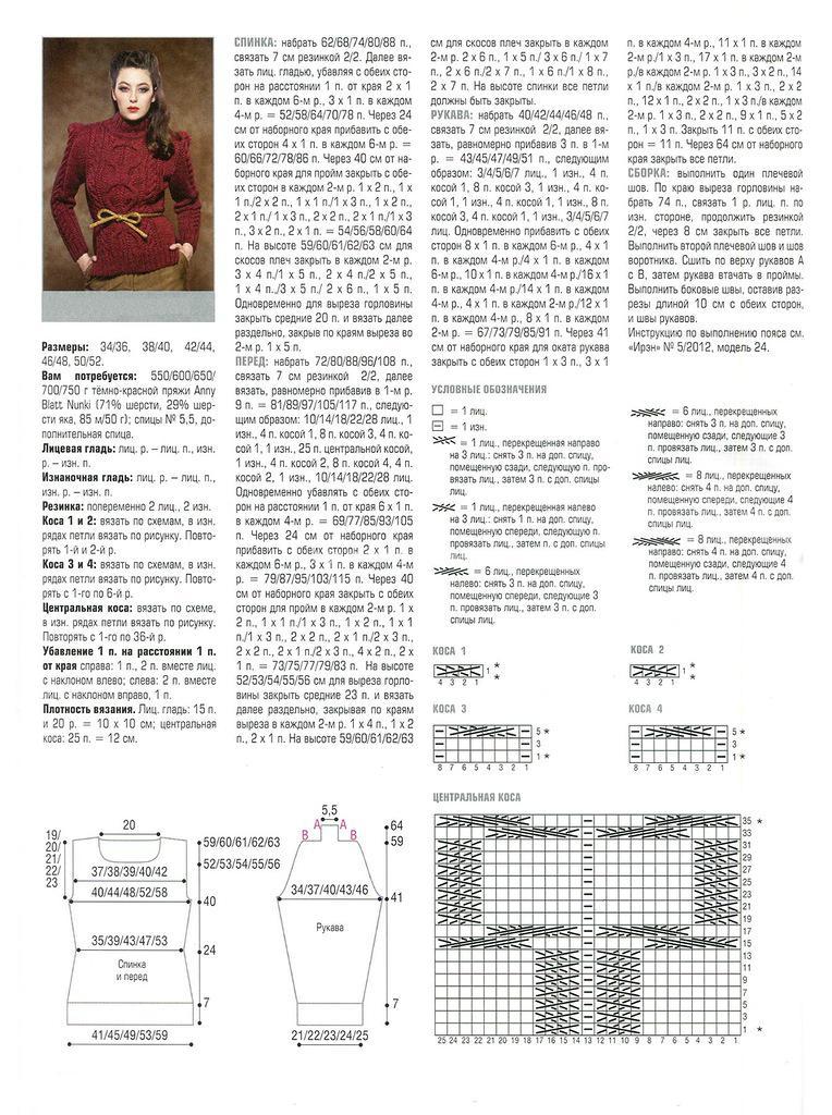 Вязание спицами свитера молодежная с описанием