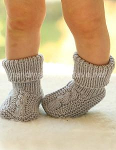 baby knitted socks