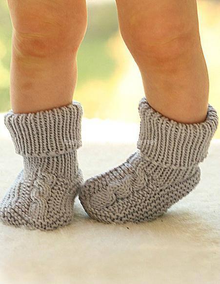 дитячі в'язані шкарпетки