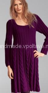 росклешённое вязаное платье