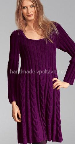 flared knitted dress