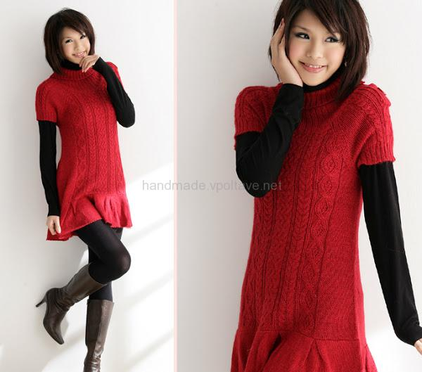 knitted dress tunic