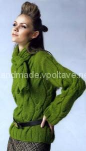 стильный пуловер из мохера