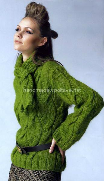 стильний пуловер з мохеру