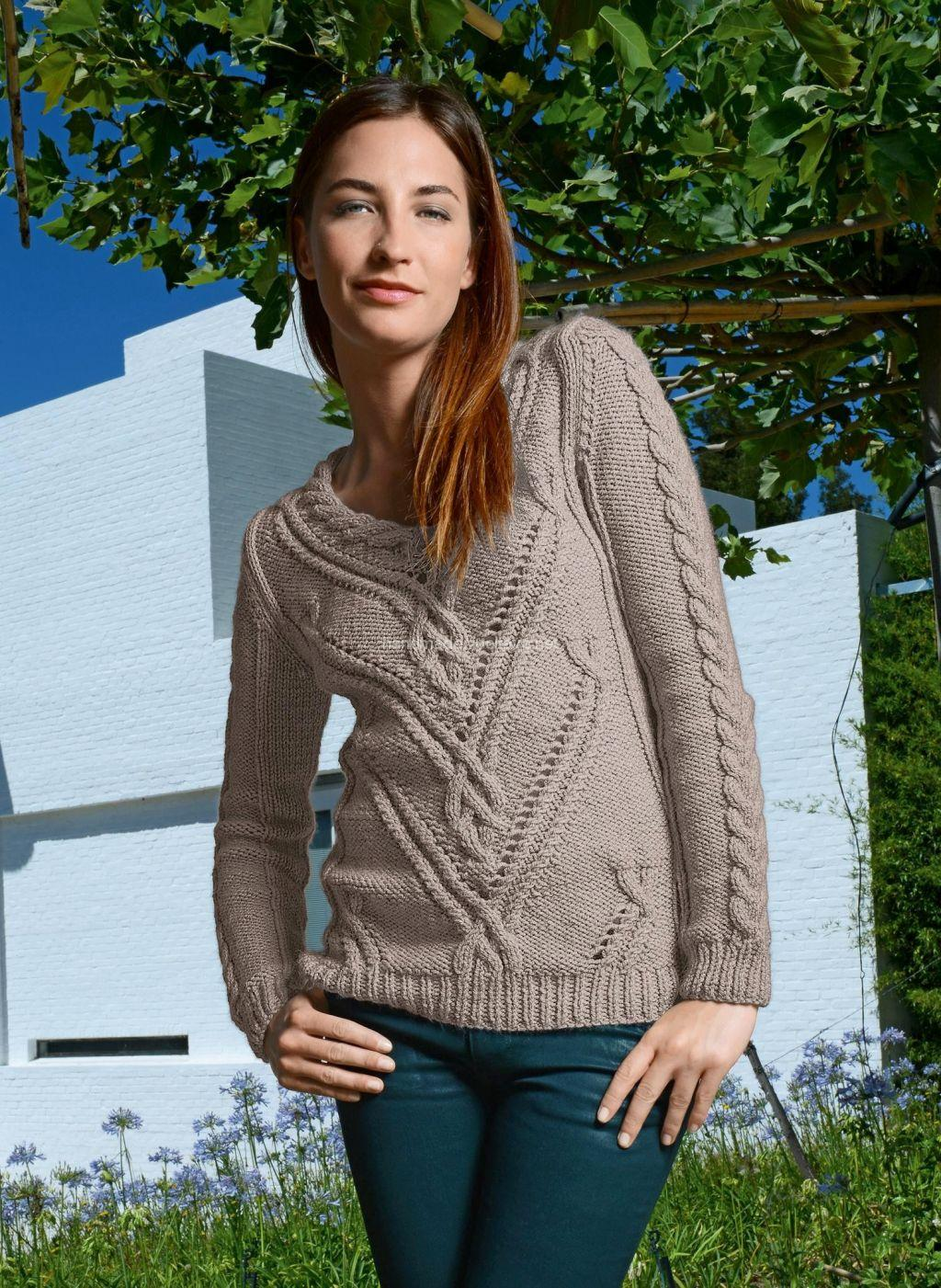 knitted pullover with Aran