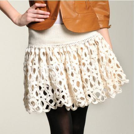 Crochet crochet skirt by Adam Lippes