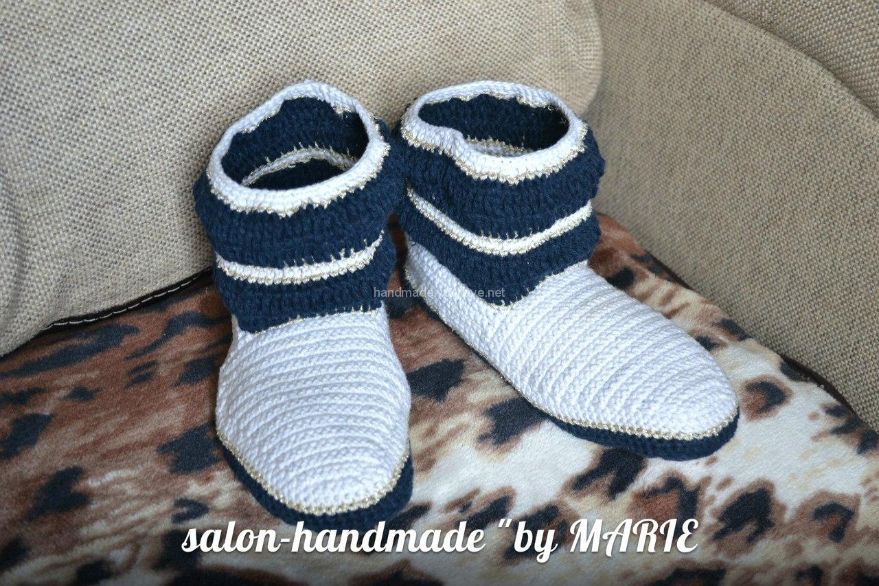 home knitted boots