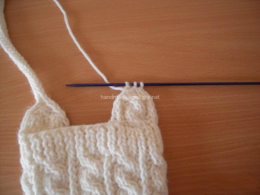 Вяжем завязки для шапочки