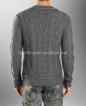 knitted men's pullover