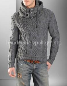 в'язаний чоловічий пуловер
