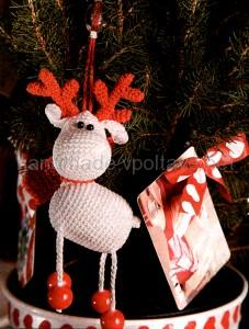 Knitted toy Santa's deer