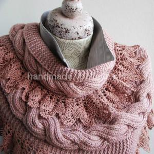 Нежный и романтичный шарф   снуд