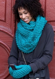 knitted knit and mittens knitting