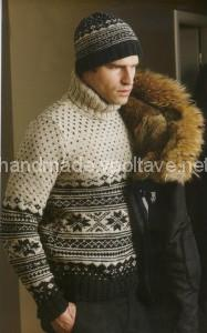вязаный свитер и шапка
