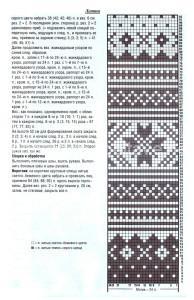 вязаный свитер и шапка описание
